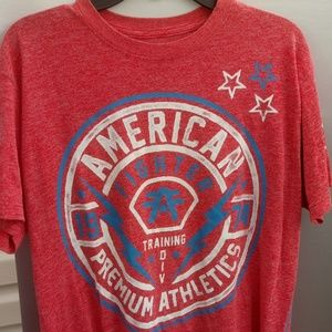 S/S American Fighter Graphics T Shirt Size L